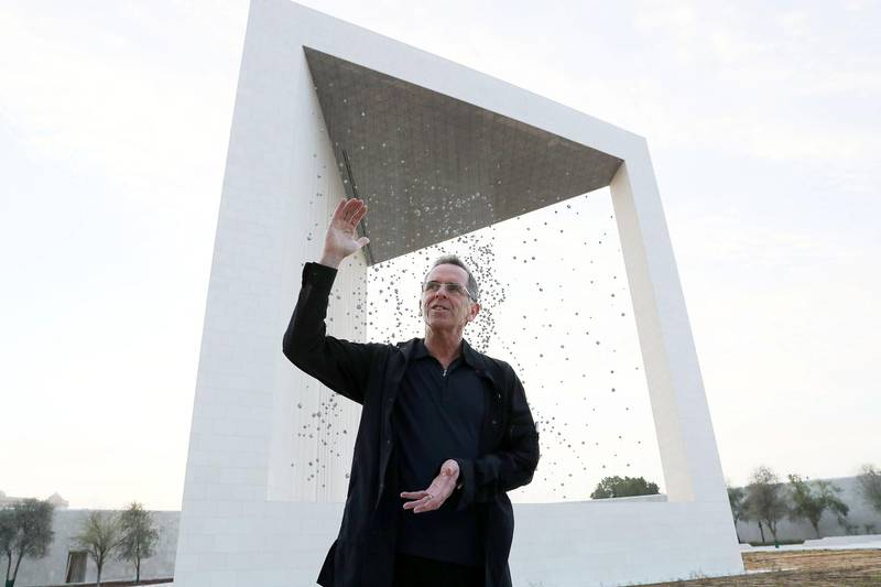 ABU DHABI , UNITED ARAB EMIRATES , APRIL 10   – 2018 :- Ralph Helmick , architect of The Founder's Memorial which commemorates the late Sheikh Zayed bin Sultan Al Nahyan the founding father of the United Arab Emirates during the interview near the Emirates Palace in Abu Dhabi. ( Pawan Singh / The National ) For News. Story by Anna