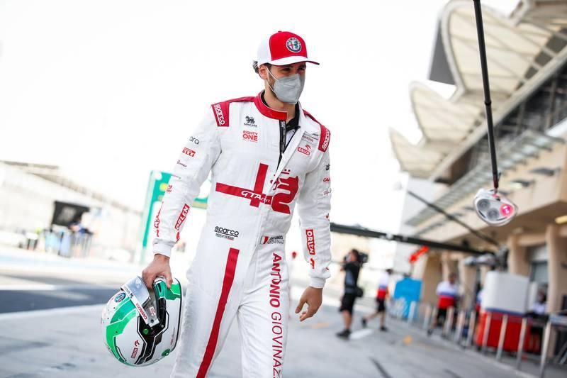 GIOVINAZZI Antonio (ita), Alfa Romeo Racing ORLEN C41, portrait during the Formula 1 Pre-season testing 2020 from March 12 to 14, 2021 on the Bahrain International Circuit, in Sakhir, Bahrain -