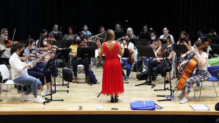An image that illustrates this article Meet the all-female orchestra playing at Expo 2020 Dubai
