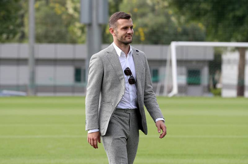 DUBAI , UNITED ARAB EMIRATES , November 25 – 2020 :- Jack Wilshere, an English Professional Footballer at the NAS sports complex  in Dubai. ( Pawan Singh / The National ) For Sports/Online/Instagram. Story by Paul Radley