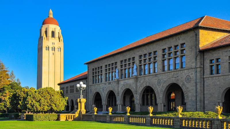 F2W7FY Hoover Tower, Stanford University - Palo Alto, CA, USA
