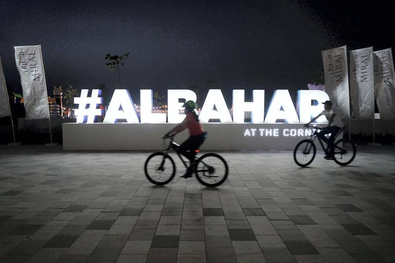 ABU DHABI , UNITED ARAB EMIRATES , APRIL 16   – 2018 :- View of the Al Bahar at the corniche in Abu Dhabi. ( Pawan Singh / The National ) For Weekender