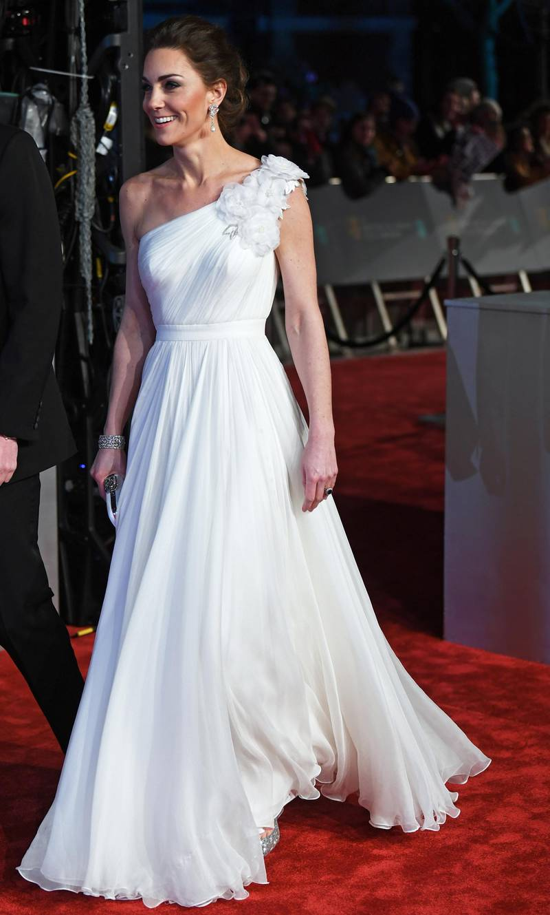 epa07359967 Britain's Catherine, Duchess of Cambridge attends the 72nd annual British Academy Film Awards at the Royal Albert Hall in London, Britain, 10 February 2019. The ceremony is hosted by the British Academy of Film and Television Arts (BAFTA).  EPA/NEIL HALL