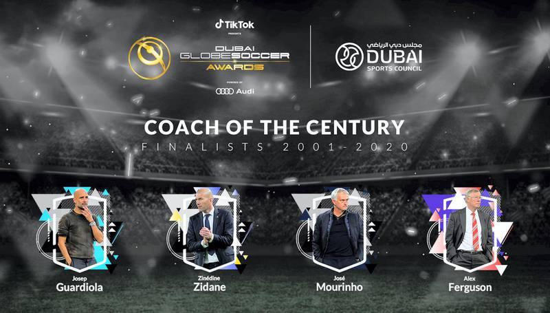 Coach of the Century - Finalists 2001-2020. courtesy: Dubai Globe Soccer Awards.