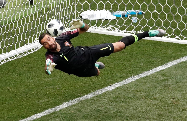 Soccer Football - World Cup - Group B - Portugal vs Morocco - Luzhniki Stadium, Moscow, Russia - June 20, 2018   Portugal's Rui Patricio makes a save    REUTERS/Christian Hartmann
