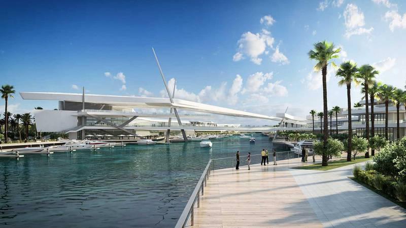 Al Qana - bridge. Courtesy Department of Urban Planning and Municipalities and Al Barakah International Investment