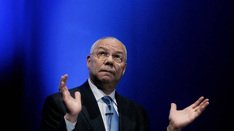 An image that illustrates this article Colin Powell: a symbol of destruction for Iraqis