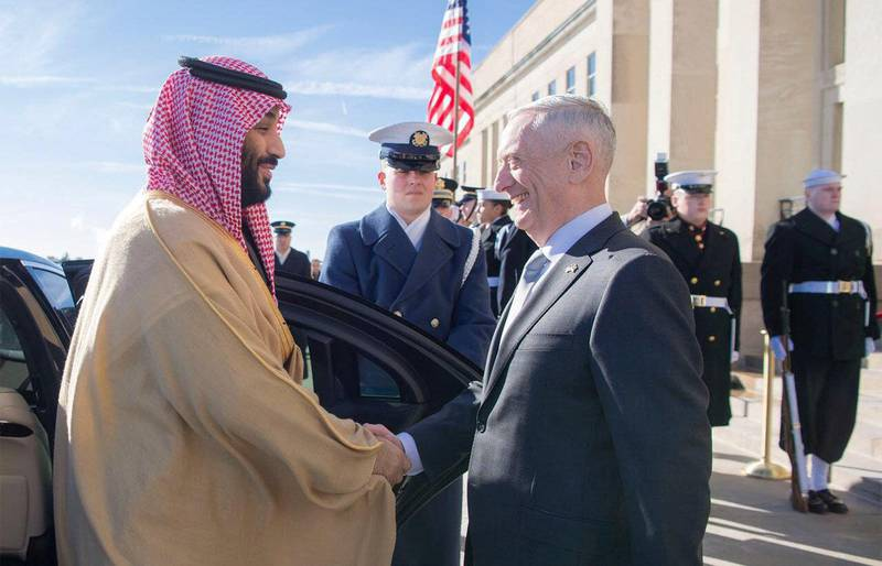 Saudi Crown Prince Mohammed bin Salman Meets with US Secretary of Defense James Mattis Courtsey: Saudi Press Agency