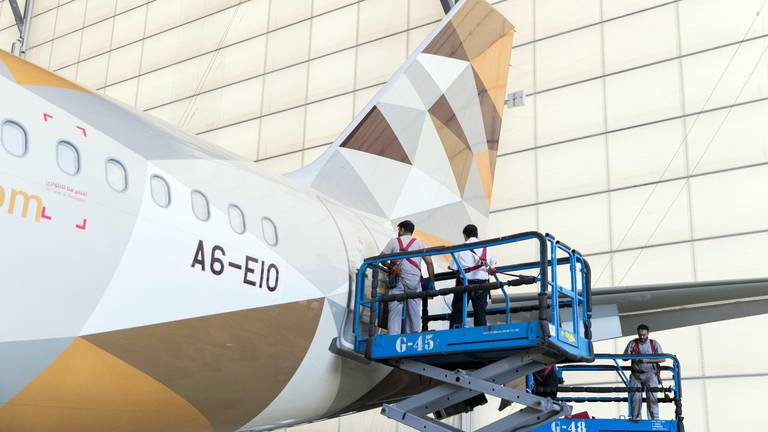 An image that illustrates this article Etihad's first Airbus A350 to join Greenliner programme, CEO says