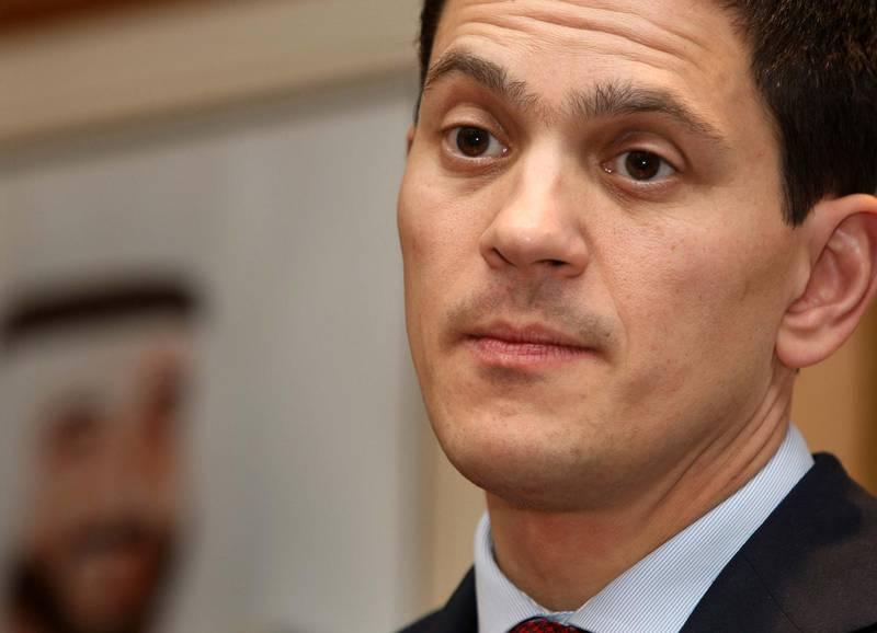 ABU DHABI.NOV.24th. 2008. British Foreign Secretary David Miliband speaking at a press conference at Abu Dhabi airport last night (mon)  Stephen Lock  /  The National . *** Local Caption ***  SL-miliband-008.jpgSL-miliband-008.jpg
