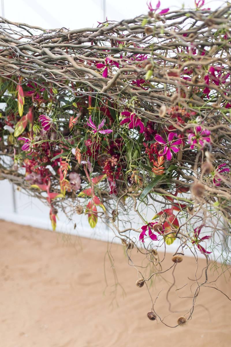 DUBAI, UNITED ARAB EMIRATES - Feb 22, 2018.Van Laer Soren's, Belgium, floral arrangements at Dubai International Flower Festival.(Photo: Reem Mohammed/ The National)Reporter: Melanie HuntSection: WK