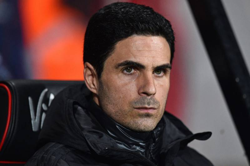 """(FILES) In this file photo taken on January 27, 2020 Arsenal's Spanish head coach Mikel Arteta awaits kick off in the English FA Cup fourth round football match  between Bournemouth and Arsenal at the Vitality Stadium in Bournemouth, southern England. Arsenal manager Mikel Arteta has tested positive for the coronavirus, the Premier League club announced on March 12, 2020. """"Our London Colney training centre has been closed after head coach Mikel Arteta received a positive Covid-19 result this evening,"""" the Arsenal statement read.  - RESTRICTED TO EDITORIAL USE. No use with unauthorized audio, video, data, fixture lists, club/league logos or 'live' services. Online in-match use limited to 120 images. An additional 40 images may be used in extra time. No video emulation. Social media in-match use limited to 120 images. An additional 40 images may be used in extra time. No use in betting publications, games or single club/league/player publications.  / AFP / Glyn KIRK                           / RESTRICTED TO EDITORIAL USE. No use with unauthorized audio, video, data, fixture lists, club/league logos or 'live' services. Online in-match use limited to 120 images. An additional 40 images may be used in extra time. No video emulation. Social media in-match use limited to 120 images. An additional 40 images may be used in extra time. No use in betting publications, games or single club/league/player publications."""