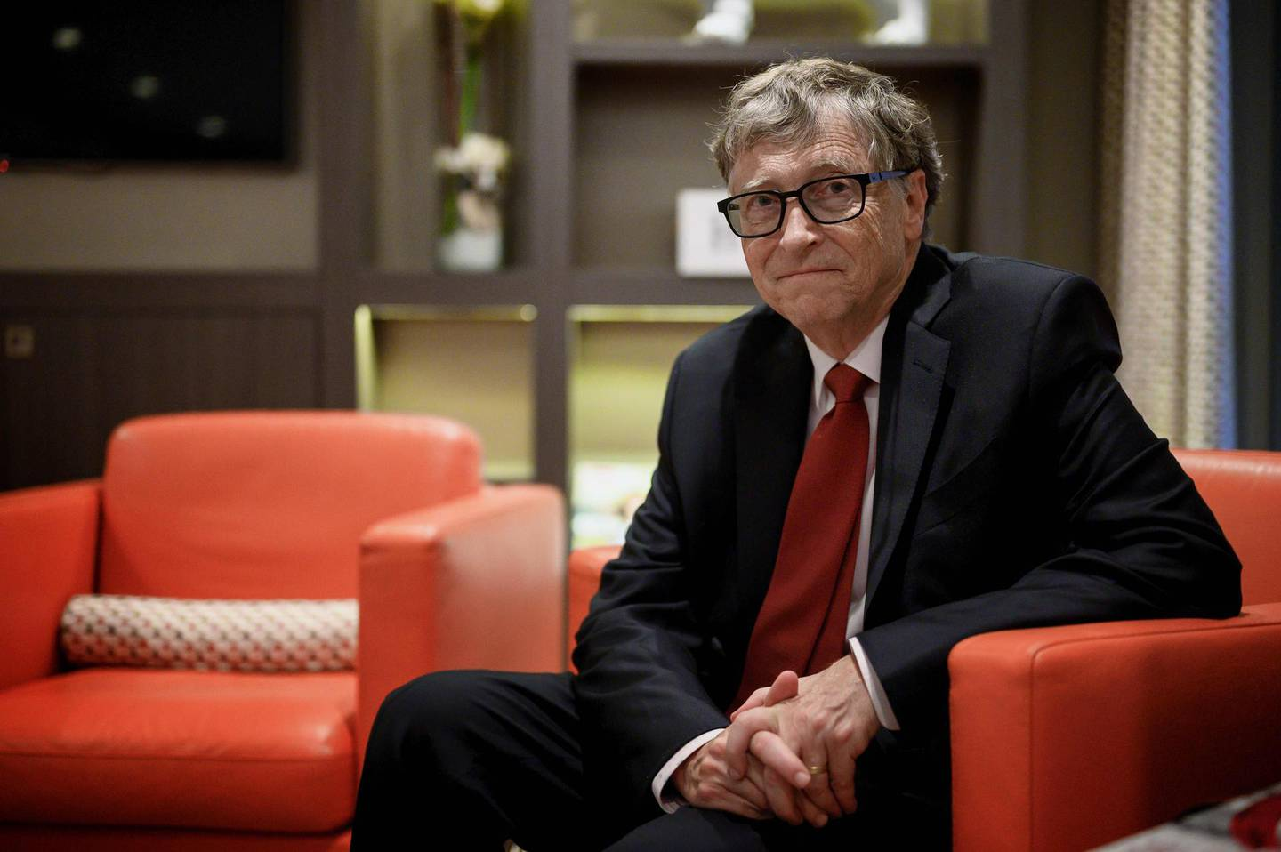 (FILES) In this file photo US Microsoft founder, Co-Chairman of the Bill & Melinda Gates Foundation, Bill Gates, poses for a picture on October 9, 2019, in Lyon, central eastern France, during the funding conference of Global Fund to Fight AIDS, Tuberculosis and Malaria. Microsoft on Friday announced that co-founder Bill Gates has left its board of directors to devote more time to philanthropy. / AFP / JEFF PACHOUD