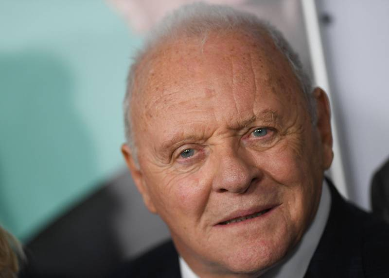 """(FILES) In this file photo taken on November 18, 2019 Welsh actor Anthony Hopkins attends the AFI FEST gala screening of """"The Two Popes"""" at TCL Chinese Theatre in Hollywood. Anthony Hopkins won the award for best actor at the Oscars on April 25, 2021 for his role in """"The Father"""". / AFP / VALERIE MACON"""