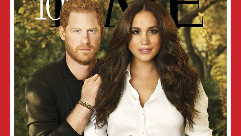An image that illustrates this article The secret message behind Meghan Markle's ring on the 'Time' cover