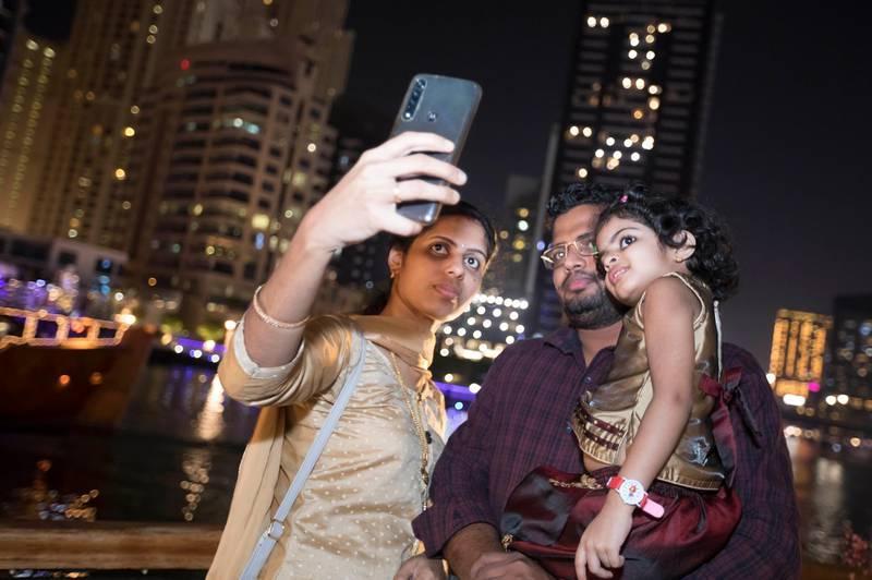 Dubai, United Arab Emirates - Winners enjoying the night at the gathering of of Abu Dhabi Big Ticket winners at Alexandra Dhow Cruise, Dubai Marina.  Leslie Pableo for The National for Sarwat Nasir's story