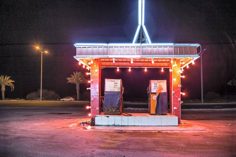 Ahmed Mater (Saudi, born 1979). Gas Station Leadlight, 2013. C-print, 60 x 90 in. (152.4 x 228.6 cm). Courtesy of the artist. © Ahmed Mater
