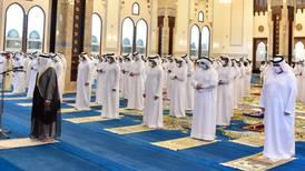 Sheikh Hamdan performs Eid Al Adha prayers at Dubai's Sheikh Rashid Mosque