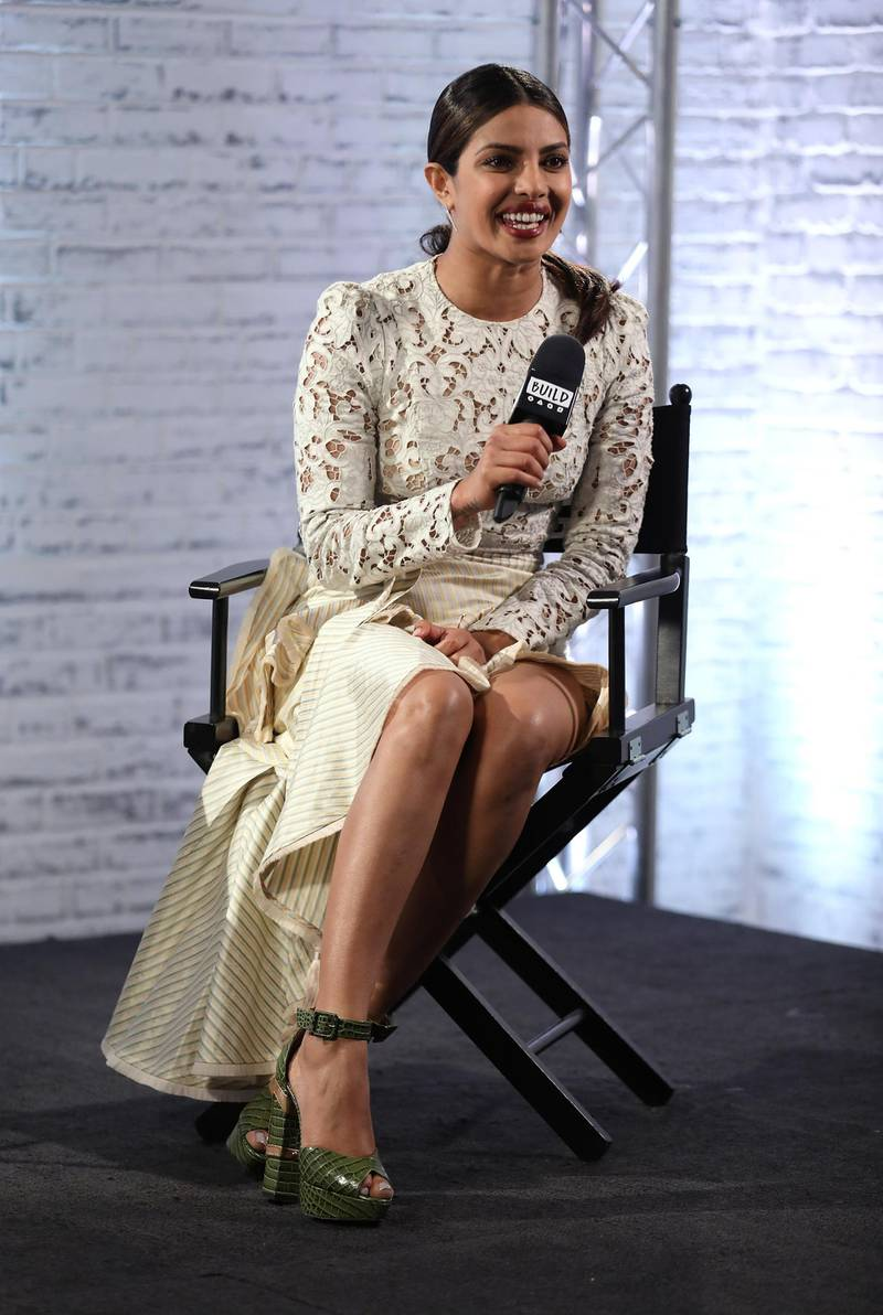 """LONDON, ENGLAND - JUNE 01:  Priyanka Chopra Star Of Movie """"Baywatch"""" speaks at the Build LDN event at AOL London on June 1, 2017 in London, England.  (Photo by Tim P. Whitby/Getty Images)"""
