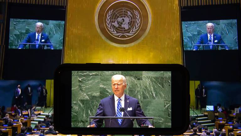 An image that illustrates this article Biden v Trump: a comparison of their UN General Assembly speeches