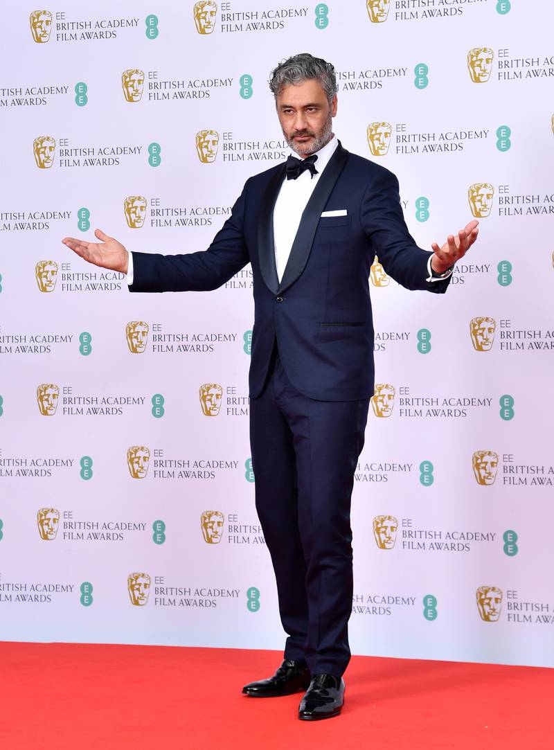 LONDON, ENGLAND - FEBRUARY 02: Taika Waititi poses in the Winners Room during the EE British Academy Film Awards 2020 at Royal Albert Hall on February 02, 2020 in London, England. (Photo by Gareth Cattermole/Getty Images)