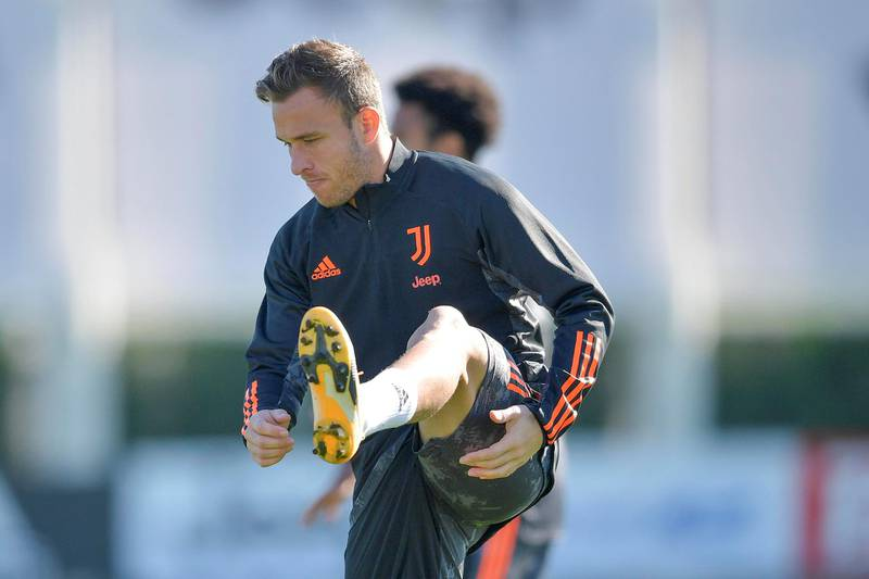 TURIN, ITALY - OCTOBER 27: Juventus player Arthur during the UEFA Champions League training session at JTC on October 27, 2020 in Turin, Italy. (Photo by Daniele Badolato - Juventus FC/Juventus FC via Getty Images)