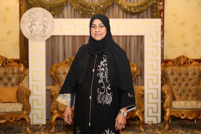 SHARJAH, UNITED ARAB EMIRATES , Dec 17 – 2019 :- Fatima Al Mugani, Emirate heritage expert at her villa in Khor Fakkan city in Sharjah. ( Pawan Singh / The National )  For POAN. Story by Ruba Haza