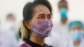 Myanmar's Aung San Suu Kyi 'dizzy' but back in court