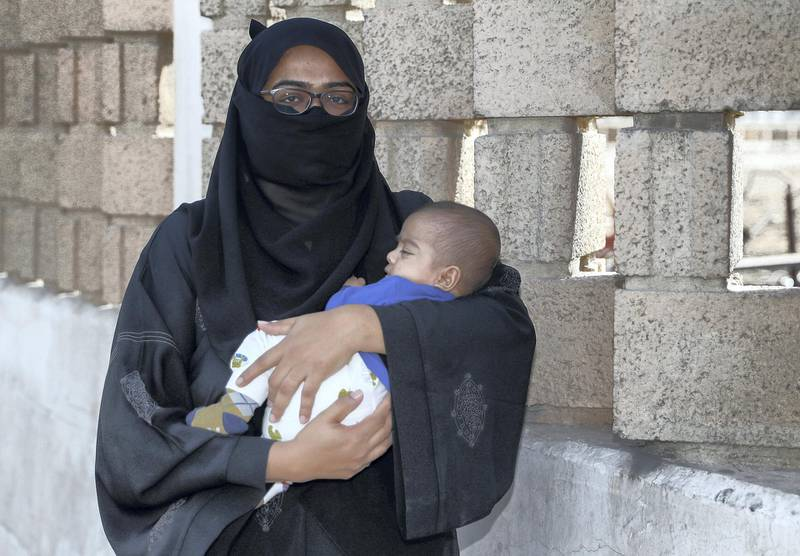 Dubai, UAE, February 16, 2018.  For Helping Hand:  STORY BRIEF: Sonya Samira needs donations tohelp pay off her rent.   Sonya and her baby boy Arman.Victor Besa / The NationalNationalREPORTER:   Shareena Al Nuwais