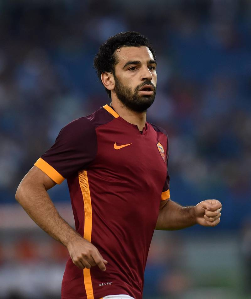 ROME, ITALY - AUGUST 14:  Mohamed Salah of AS Roma in action during the pre-season friendly match between AS Roma and Sevilla FC at Olimpico Stadium on August 14, 2015 in Rome, Italy.  (Photo by Giuseppe Bellini/Getty Images)