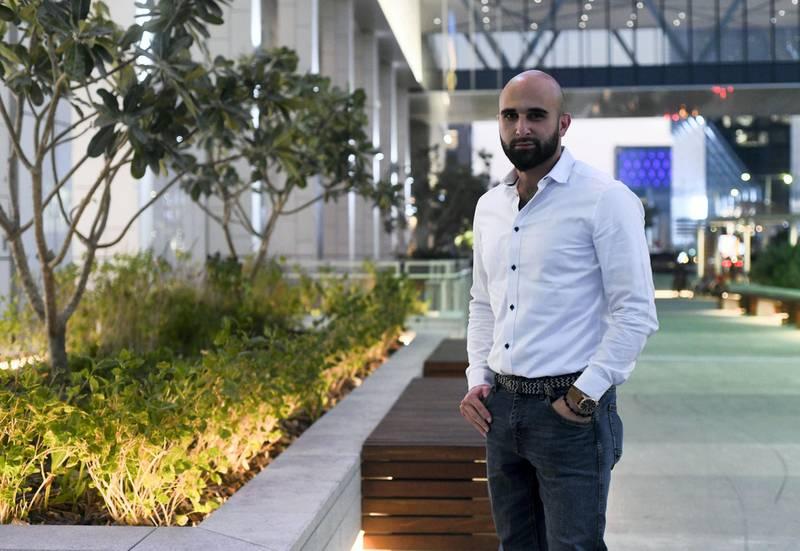 Abu Dhabi, United Arab Emirates - Faisal Al Hilwani discusses his plans for New Years Eve celebrations. Khushnum Bhandari for The National