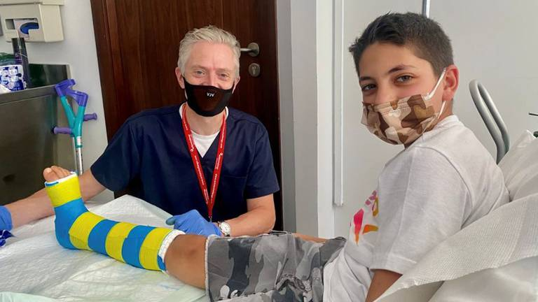 An image that illustrates this article 3D printing helps put Dubai schoolboy back on basketball court