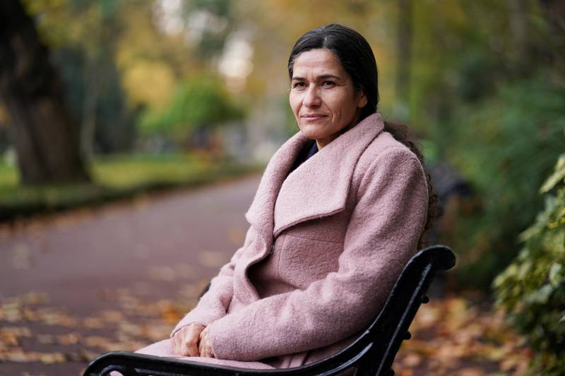 The President of the Executive Committee of the Syrian Democratic Council, Ilham Ahmed, poses for a portrait in central London, Britain, November 8, 2019. REUTERS/Henry Nicholls