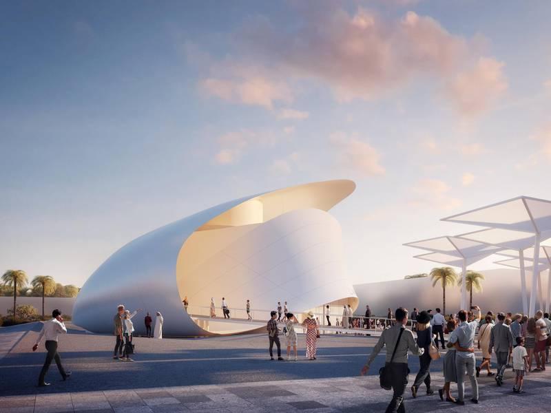 Luxembourg Pavilion outdoor. Courtesy: Luxembourg Pavilion Expo 2020 Dubai