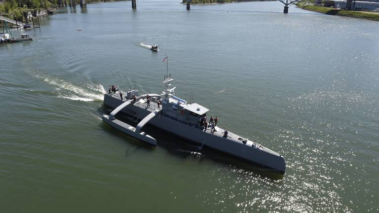 An image that illustrates this article Unmanned surface vessel - in pictures