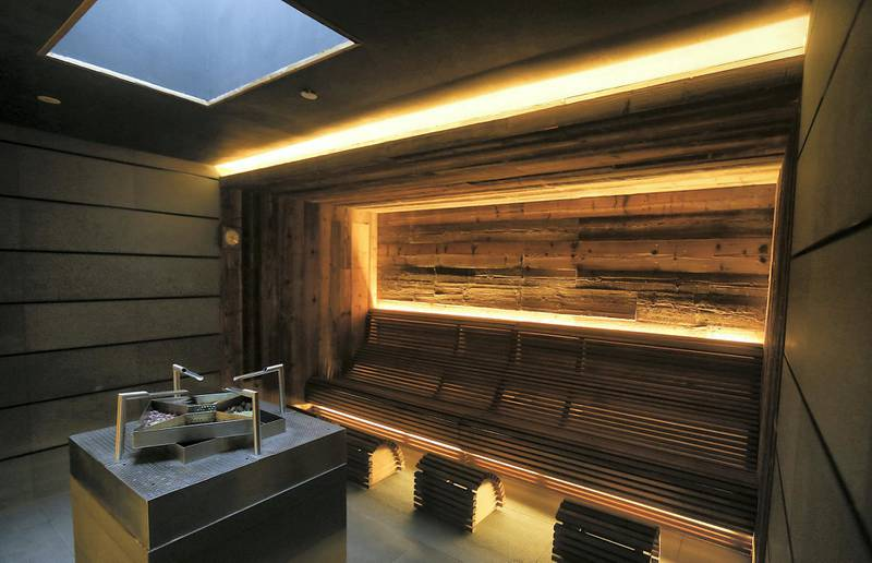 Sharjah, August, 18, 2019: Herbal Sauna area in the Spa at the Al Faya Lodge in Sharjah. Satish Kumar/ For the National / Story by Rupert Hawksley