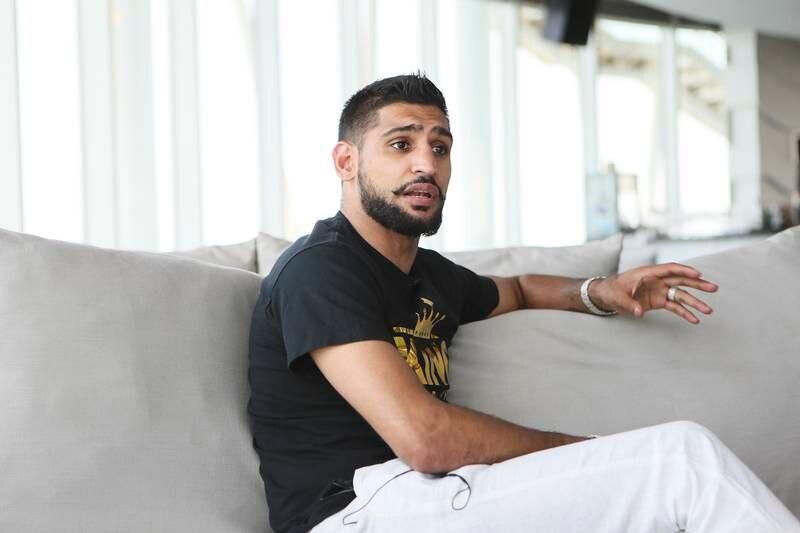 Dubai , UNITED ARAB EMIRATES. July 28, 2015  - English professional boxer Amir Khan is photographed at 360 Lounge at the Jumeirah Beach Hotel in Dubai, July 28, 2015. (Photo by: Sarah Dea/The National, Story by: Omar Al Raisi, Sport) *** Local Caption ***  SDEA280715-amirkhan08.JPG