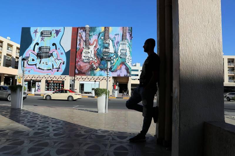 Dubai, United Arab Emirates - Reporter: N/A: Photo project. Street art and graffiti from around the UAE. Monday, January 27th, 2020. Al Karama, Dubai. Chris Whiteoak / The National