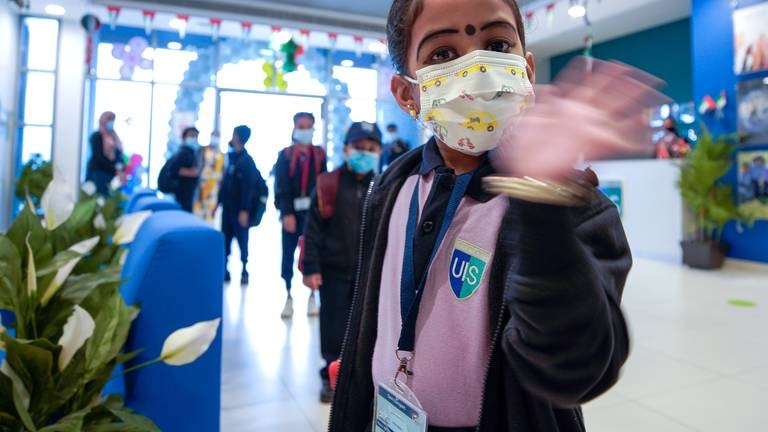 An image that illustrates this article Abu Dhabi teachers aim for top vaccination rates but need parents' support