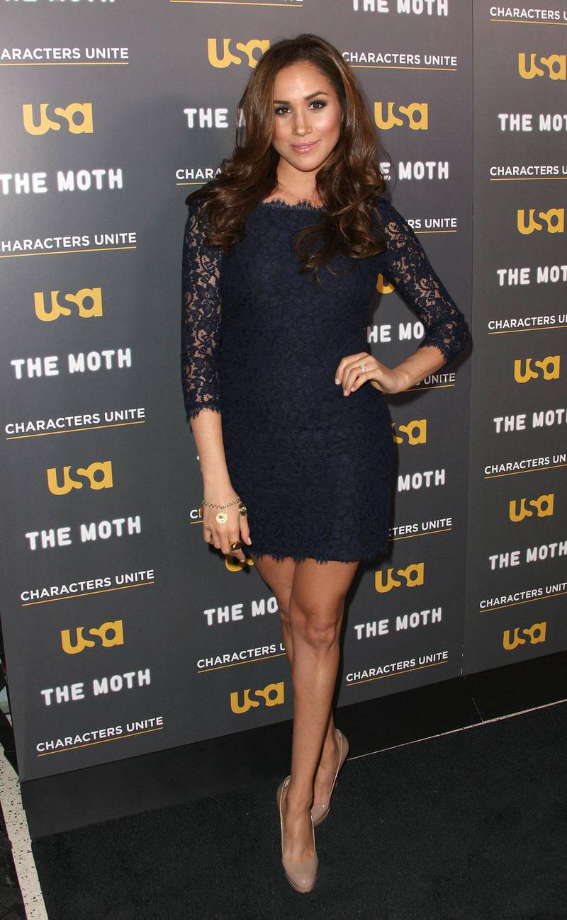 """WEST HOLLYWOOD, CA - FEBRUARY 15: Actress Meghan Markle attends the USA Network's and The Moth's Storytelling Tour """"A More Perfect Union: Stories of Prejudice and Power"""" at the Pacific Design Center on February 15, 2012 in West Hollywood, California.   Frederick M. Brown/Getty Images/AFP (Photo by Frederick M. Brown / GETTY IMAGES NORTH AMERICA / Getty Images via AFP)"""