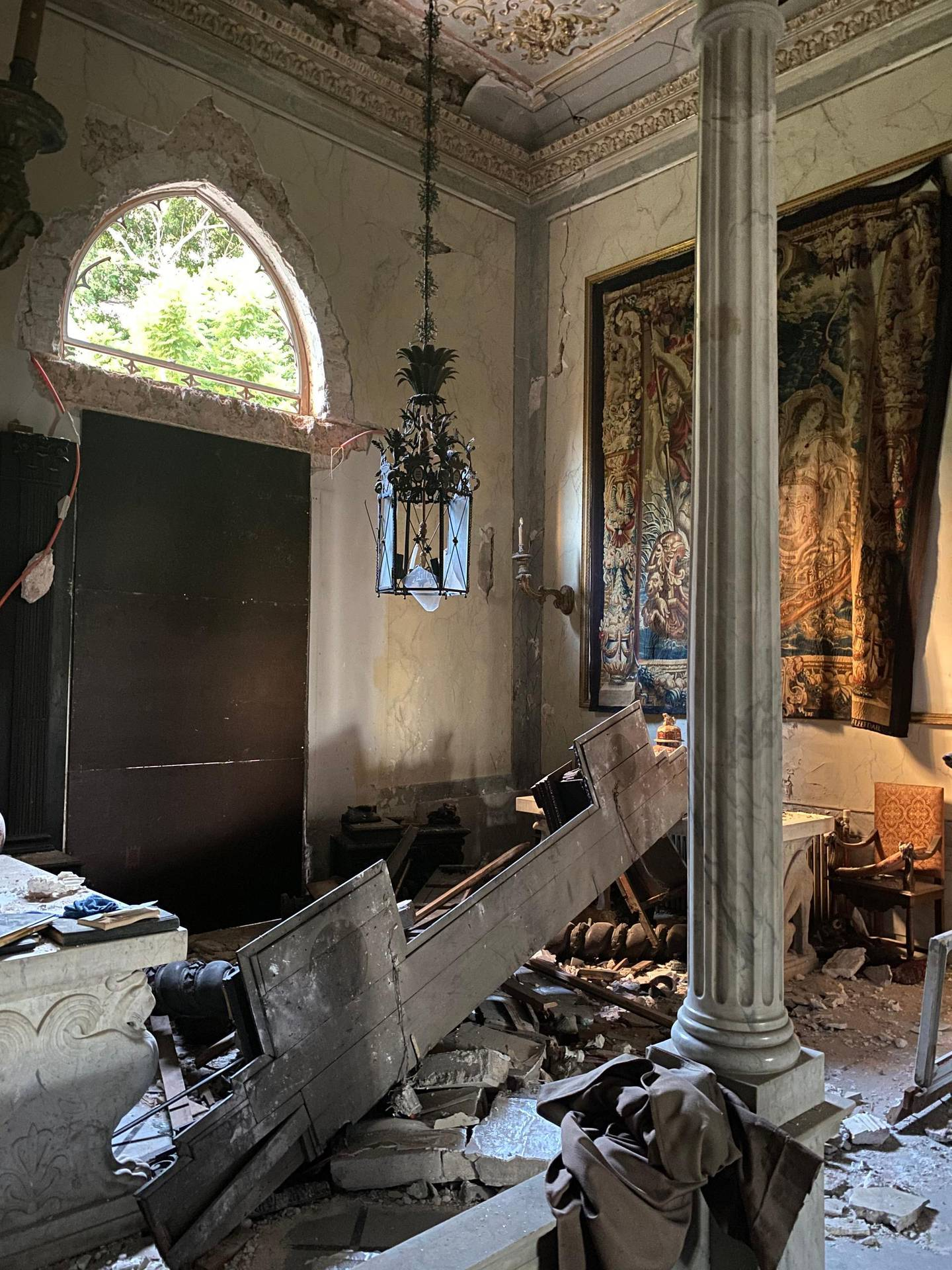 Debris post-blast by Bassam Lahoud