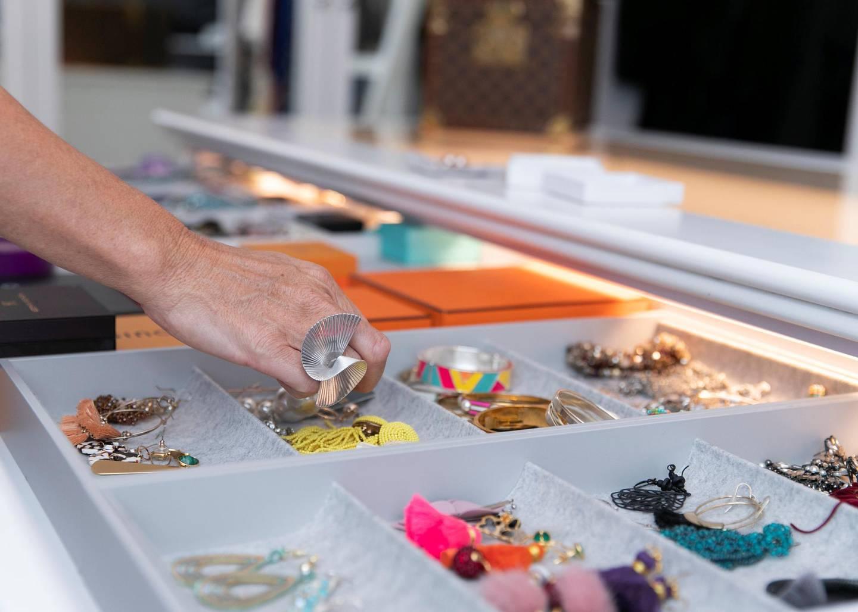 DUBAI, UNITED ARAB EMIRATES. 16 OCTOBER 2019. Interior stylist Rhian Clarke designed dressing room in Al Mahra, Arabian ranches. (Photo: Reem Mohammed/The National)Reporter:Section: