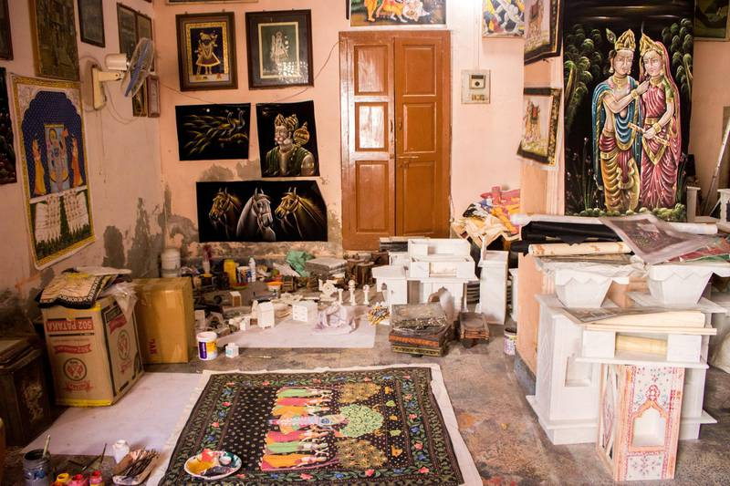 Once over 100 painters worked in the Vyas workshop in Rajasthan's Kishangarh town in the 80s, today, it is down to ten. Courtesy: Sanket Jain