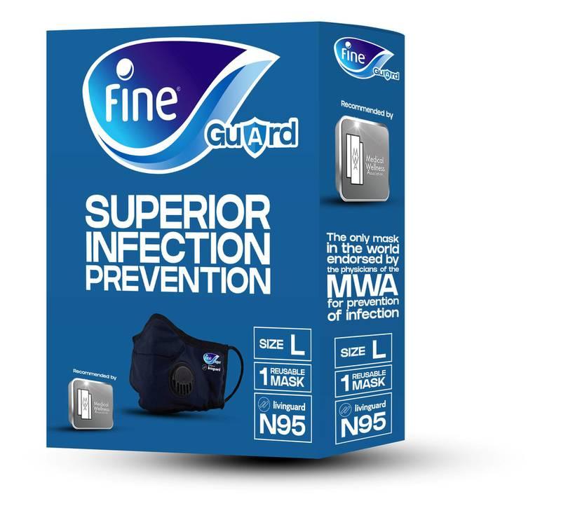 Fine superior infecion prevention mask. courtesy: Fine hygienic holding.