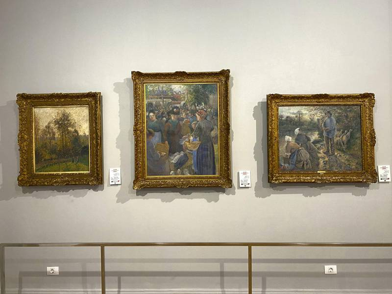 Camille Pissarro paintings at Mohamed Mahmoud Khalil Museum. Nada El Sawy / The National
