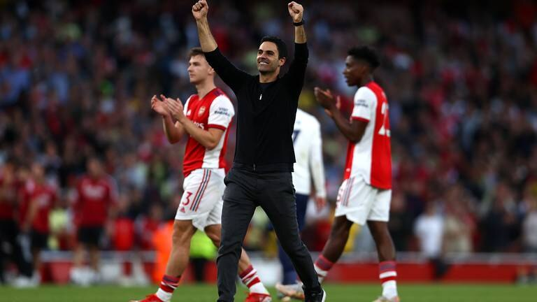 An image that illustrates this article Arteta's faith in youth rewarded as Arsenal decimate Tottenham