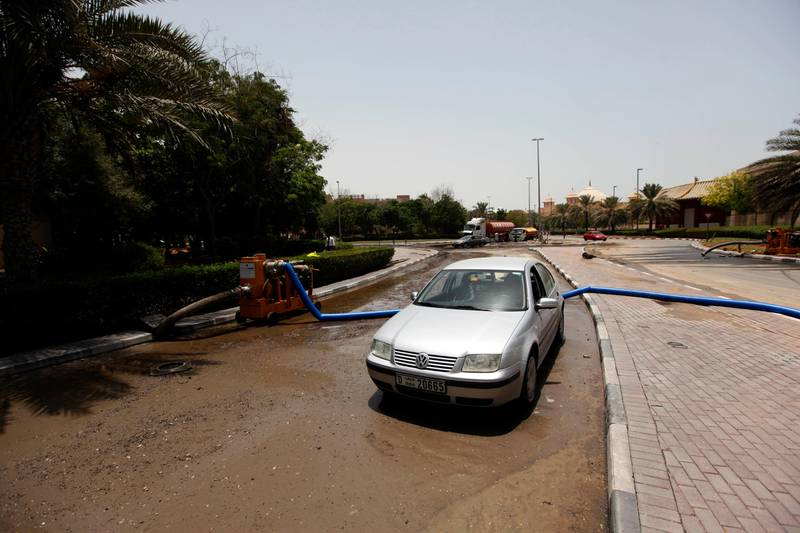 Dubai, United Arab Emirates- July,20, 2013:  View of the  Greens and IBN Battuta Mall area after the Leakage in Water pipes causing  heavy floods in Dubai . ( Satish Kumar / The National ) For News *** Local Caption ***  SK100-Greens-04.jpg