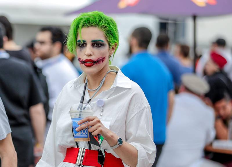 Dubai, April 12, 2019.  MEFCC day 2-Comic Con goers at full swing on day 2.Victor Besa/The National.Section:  AC  Reporter:  Chris Newbould