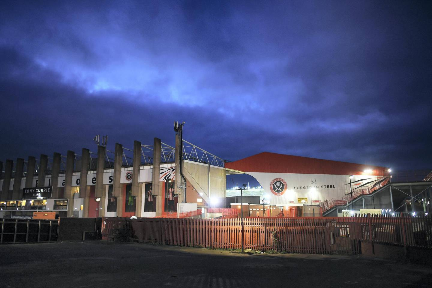 SHEFFIELD, ENGLAND - OCTOBER 21:   General view outside the stadium ahead of the Premier League match between Sheffield United and Arsenal FC at Bramall Lane on October 21, 2019 in Sheffield, United Kingdom. (Photo by Michael Regan/Getty Images)