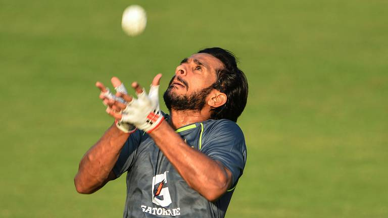 An image that illustrates this article Pakistan train for historic New Zealand series in Rawalpindi - in pictures